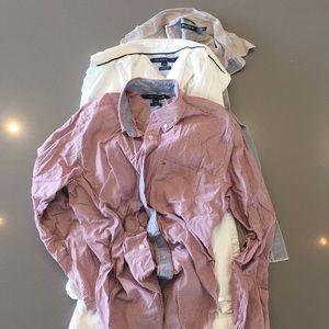 Tommy Hilfiger + Nautica Dress Shirts Bundle